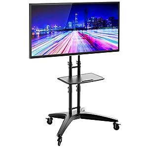 """Support télé sur pieds avec roulettes pour 32""""-65"""" LED LCD Plasma écran plat TS123"""