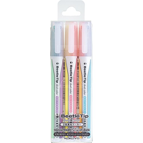 kokuyo-beetle-tip-dual-color-highlighter-pm-l313-3s-by-kokuyo