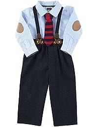 Mud Pie Baby-Boys Suspender Pant Set with Knit Tie (12-18 months)