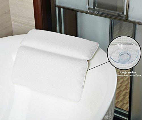 Almohada bañera, HALOViE Almohada bañera ventosas