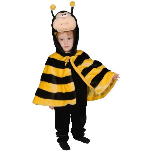 Dress Up America Kinder kleine Buzzy Bee Kostüm Bumble Honig Wespe Geburtstag Bug Party Dress Up Cape auch ()