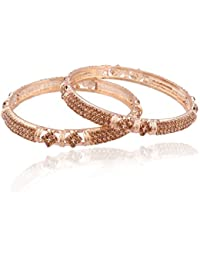 I Jewels Traditional Gold Plated Bangles For Women ADB135