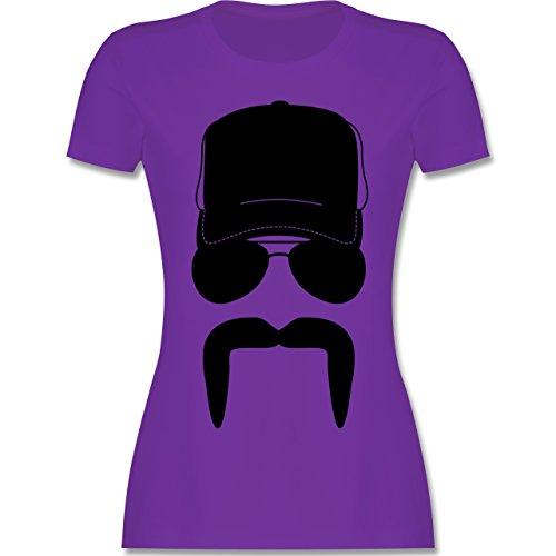 Trucker - Trucker - tailliertes Premium T-Shirt mit Rundhalsausschnitt für Damen Lila