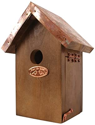 Esschert Design NK06 20 x 14 x 11cm Wood Wren Nest Box Copper Roof - Brown from Esschert