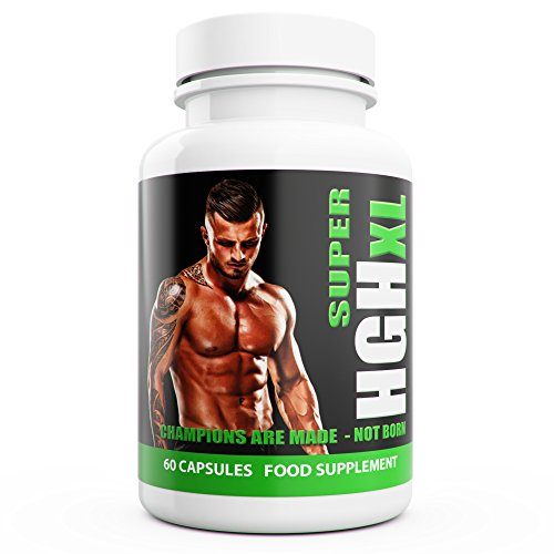 SUPER HGH XL – 60 Capsules, 1-month Supply – Tribulus Terrestris, L Arginine, l Glutamine, Amino Acid – Sports Nutrition Supplement for Men by Natural Answers