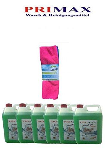 30 Ltr. Primax Flüssigwaschmittel grün incl. 1 Ausgiesser + Korallentuch - Versandkostenfrei! (Flüssigwaschmittel)