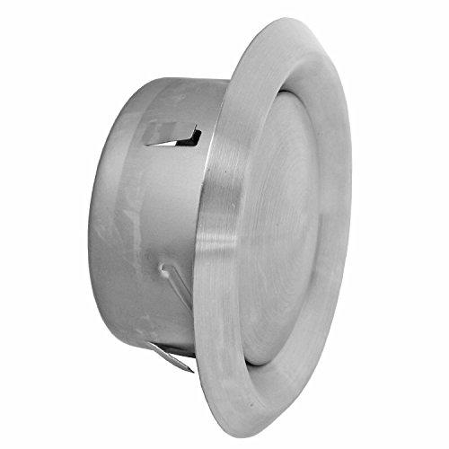 spares2go mur/plafond extracteur rond en acier inoxydable grille d'aération + Tuyau (100mm/10,2cm Diamètre, longueur du tuyau: 4mètres)