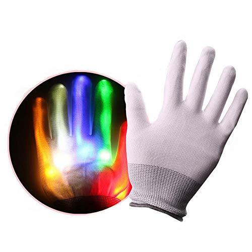 ANLW Handschuhe farbenfrohen Glühgewehr-Handschuhe, die mit optischen Handschuhen leuchten, die die Farben der bunten, aufgewühenen Handschuhe für Festivals lieben.
