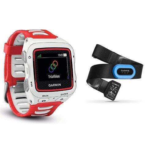 Garmin Forerunner 920XT GPS Triathlon Multisport, Bianco/Rosso + HRM-Tri Fascia