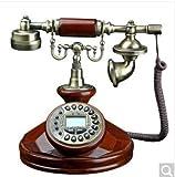 Massivholz Nachahmung europäischen Technologie Telefon Anrufe mit einer Vintage Vintage Antik Display