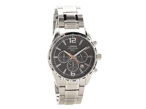 Lorus Mens Chronograph Quartz Watch with Stainless Steel Strap RT301FX9