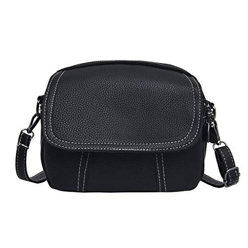 Mitlfuny handbemalte Ledertasche, Schultertasche, Geschenk, Handgefertigte Tasche,Fashion Lady Solid Color Multi-Layer vielseitige Umhängetasche Messenger Bag