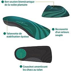 FootActive CASUAL – Para el dolor de talones, espolones, Fascitis Plantar, dolor de rodilla y espalda - ¡Plantillas de excelente calidad!, talla 42 - 43 (M)