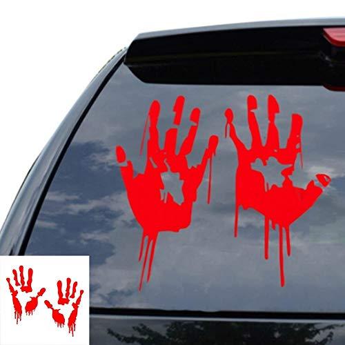 CAR Sticker Home Reflektierende schreckliche blutige Hände Aufkleber Fahrzeug Auto Fenster Körper Aufkleber Dekor für Notebook Skateboard Snowboard Gepäck Koffer MacBook Auto Fahrrad Stoßstange ☆ A