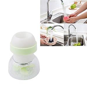 ODN Küche Gadgets Drehbare Wasserhahn Anzapfung Extender Dusche Waschtischarmatur Extender,Grün
