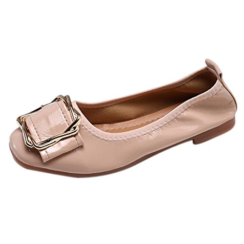 c6d152bf3f6df Ballerines Plates Vernies Femme Chaussures Plates en Cuir Automne,Overdose  Casual Loafers Flats Ballet Shoes