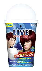 Schwarzkopf Live Color XXL Shake It Up Colour Foam 589 Red Berry Passion
