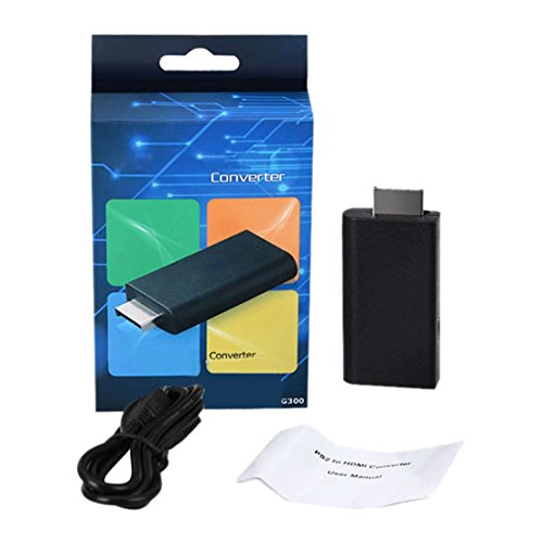 adaptador convertidor - SODIAL(R) PS2 al convertidor del adaptador de video HDMI con 3,5 mm de salida de audio para la television de alta definicion 1080P HDMI