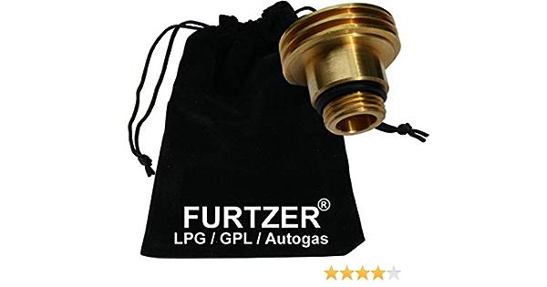 Furtzer Lpg Gpl Car Gas Tank Adaptor M22 1 3 4 X W21 8 Acme Short Version 35 Mm With Cloth Bag Auto