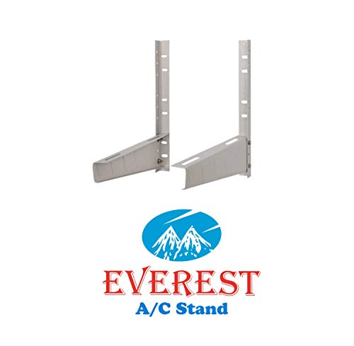 Everest Split AC Stand Mounting bracket Stand for 1 Ton, 1.1 Ton, 1.2 Ton, 1.5 Ton, 2 Ton AC (White Colour)