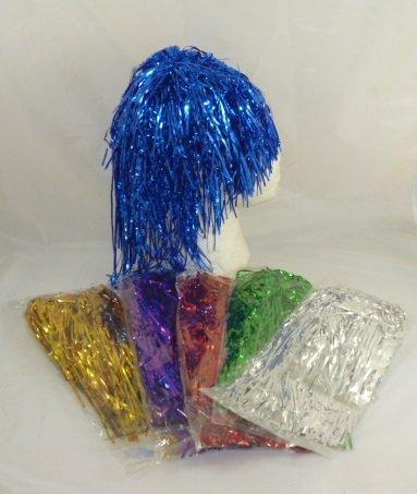 Packung mit 5 Lametta-Perücken für Parties - Polterabende - Party Bag Spielzeug [Spielzeug] (Lametta Perücke Kostüm)