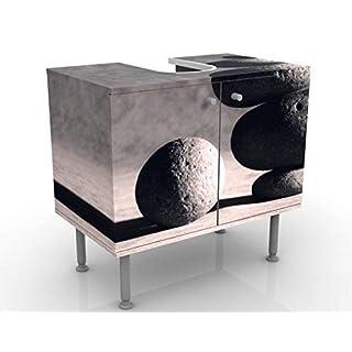Apalis Design Vanity In Harmony 60x55x35cm, small, 60cm wide, adjustable, wash basin, vanity unit, washstand, bathroom cupboard, base unit, bathroom, narrow, flat