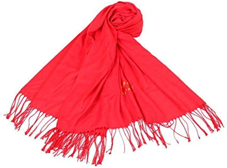 Ysuing Sciarpa da riunione Donna Solido Coloreee Sciarpa annuale riunione da  Grande Rosso Regalo Sciarpa 717b6e 908ad9ae2e22
