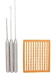 Agujas para cebo de pesca carpa cebo de pesca pesca aparejo herramienta de pesca Rig aguja Swinger perforadora Set, 4en 1