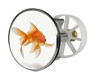 Waschbeckenstöpsel Design Fisch | Abfluss-Stopfen aus Metall | Excenterstopfen | 38 - 40 mm