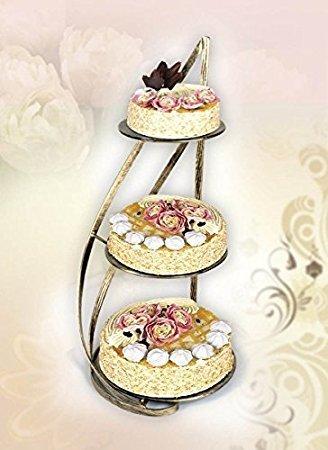 Tortenständer aus Metal für 3 Kuchen , drei Etagen Tortenständer