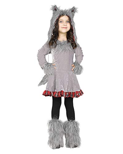 Horror-Shop Graues Wolf Kostüm Tier Verkleidung für Kleinkinder L (Wolf Kostüm Für Kleinkind)