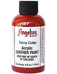 Ángelus - Pintura acrílica para piel 4 Ounces Terra Cotta Red