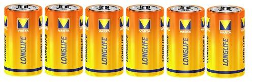 Varta (Longlife löschen)  1,5V Zink-Kohle Mono Batterien 6er Pack Adapter Blister Pack