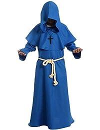 Disfraz de monje del renacimiento con capucha