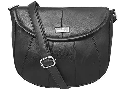 Quenchy london borsa a tracolla in vera pelle da donna, borsa versatile per lavoro, tempo libero, ufficio, vaggio con tasca porta cellulare - tracolla regolabile - ql185k