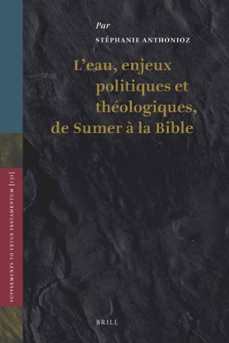 L'eau, Enjeux Politiques Et Theologiques De Sumer a La Bible par Stephanie Anthonioz
