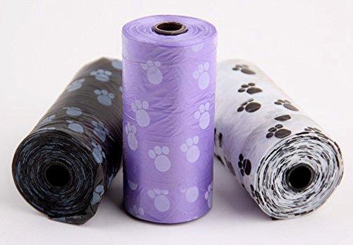 confronta il prezzo Healthy mazze, 5 rotoli, 100 pezzi, per cani e animali domestici e i rifiuti Poop Bags Pick Up Bag Pooper Pet Supplies miglior prezzo