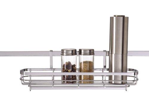 Wenko 2808100 Korb Basic - Zubehör für Super-Loc- oder Power-Loc-Aufhängeleiste, Chrom, 33 x 10.5 x 13.5 cm