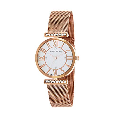 Giordano Analogue White Dial Women's Watch