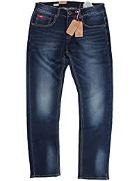 Lee Cooper Mens Stretch Jeans Dark Wash Mid Wash Slim Fit