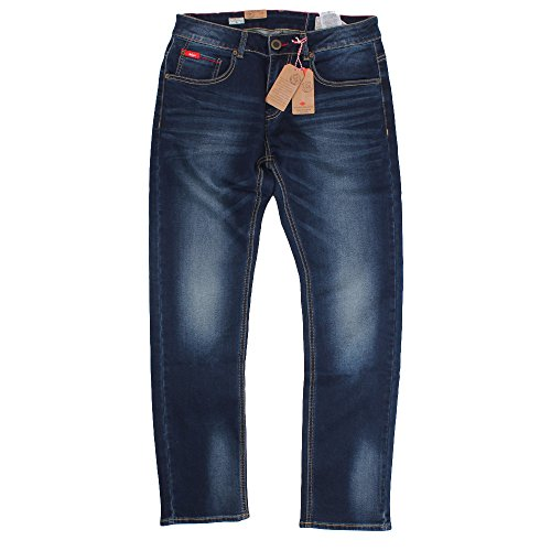 Lee Cooper -  Jeans  - Uomo Dark Wash 36W x 32L