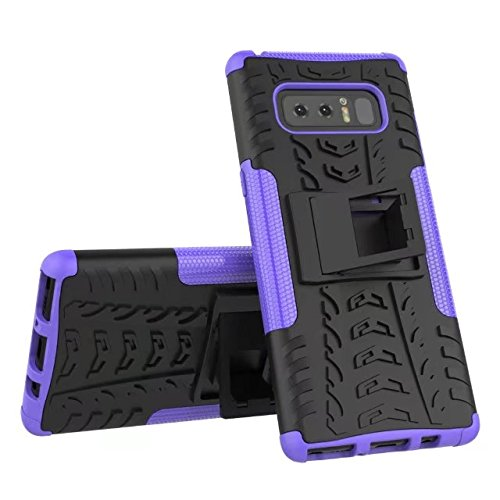 YHUISEN Galaxy Note 8 Fall, Hyun Muster Dual Layer Hybrid Rüstung Kickstand 2 in 1 Shockproof Case Cover für Samsung Galaxy Note 8 ( Color : Green ) Purple