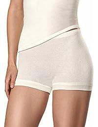 -con-ta- Damen Angora - Schurwolle - Pagen-Schlüpfer - warme Funktions-Unterwäsche Nicht nur für den Winter Größe 38-52 Woll-Weiß - 805-0650