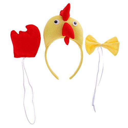 Gazechimp Tier Kopfband Schleifen Schwanz Set Tier Bauernhof Kinder Kostüm Maskenbal - Huhn (Kinder Bauernhof Tier Kostüm)