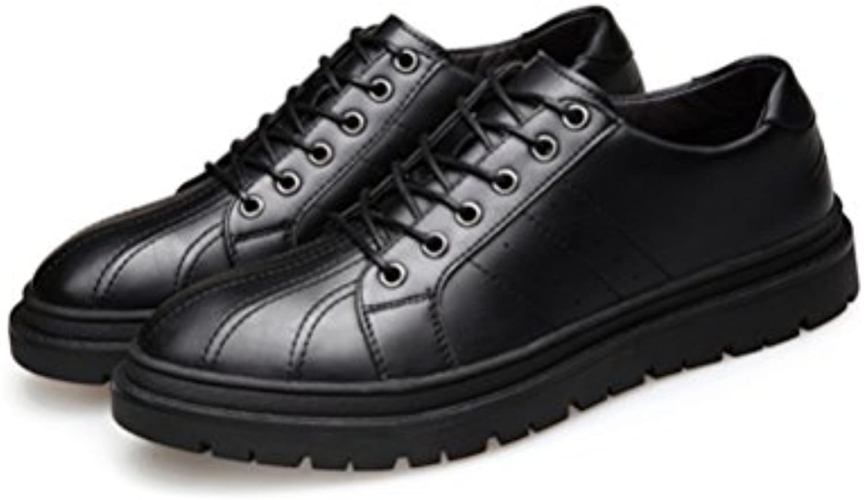 Koyi Beilaumlufige Schuhe der Neuen Männer Britische Art und weisse Retro  Oberteil Kopfschuhe Schnüren Sich Oben
