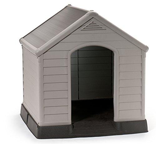 Keter 17360369 Hundehütte Dog House, Kunststoff, beige/grün