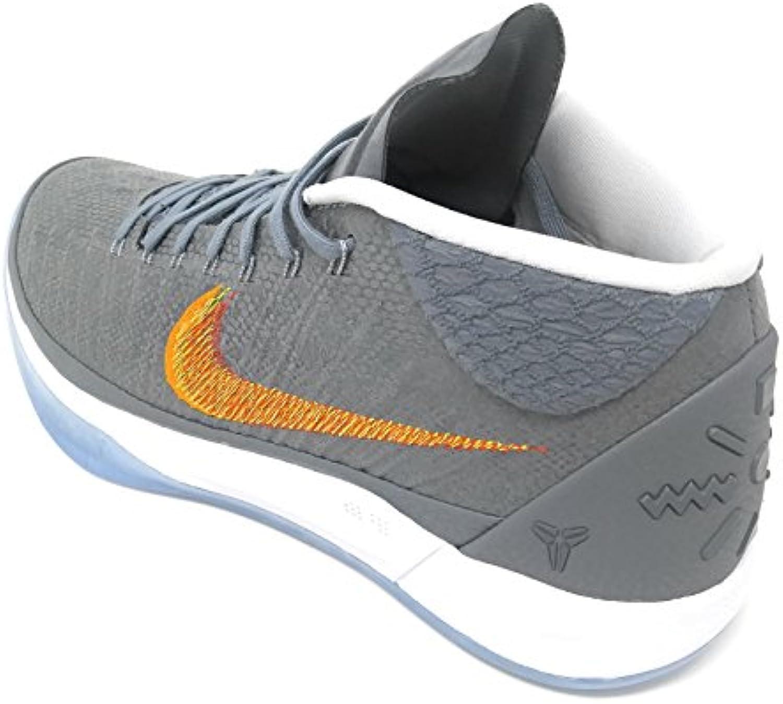 Nike Men's Kobe A.D. Basketball Shoes (10  Chrome/Habanero Red)