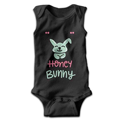 MUAIKEJI Little Honey Bunny Newborn Infant Baby Summer Sleeveless Bodysuit Romper Bunny Infant Bodysuit