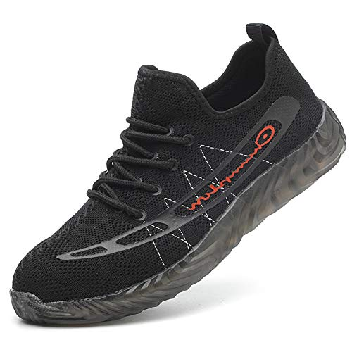 Zapatos Seguridad Hombre Mujer Punta de Acero Protección Zapatillas de Trabajo Industria y Construcción