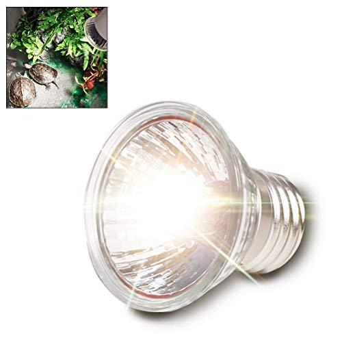 Hihey 50W Turtle Heat Lamp E27 Socket 360 ° Giratorio con Rayos UVA y UVB Destaca la síntesis de Vitamina D3 para Promover Reptiles, lagartos y Tortugas